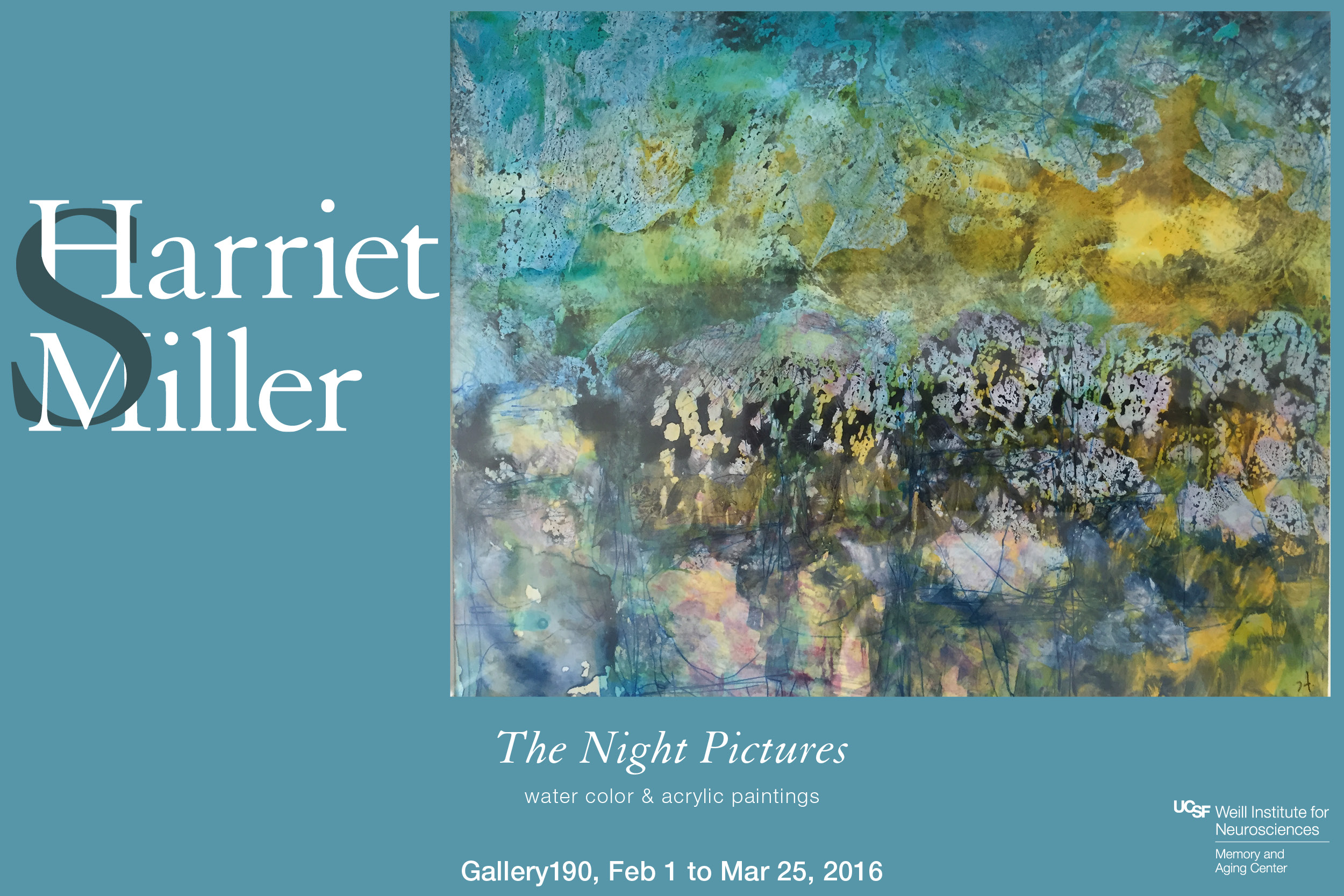 """The Night Pictures"" exhibit by Harriet Miller"