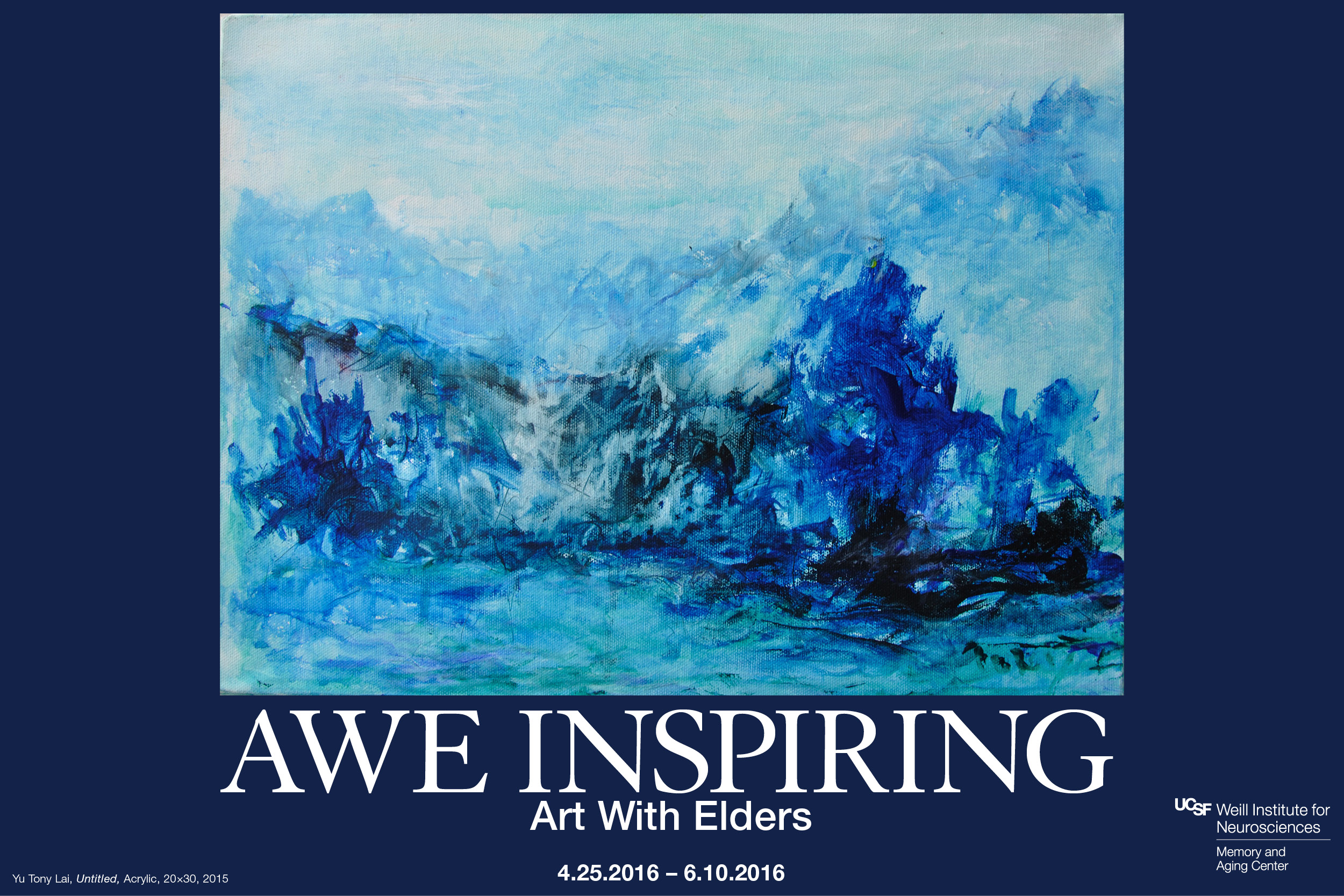 """AWE Inspiring"" exhibit by artists in the Art with Elders program"