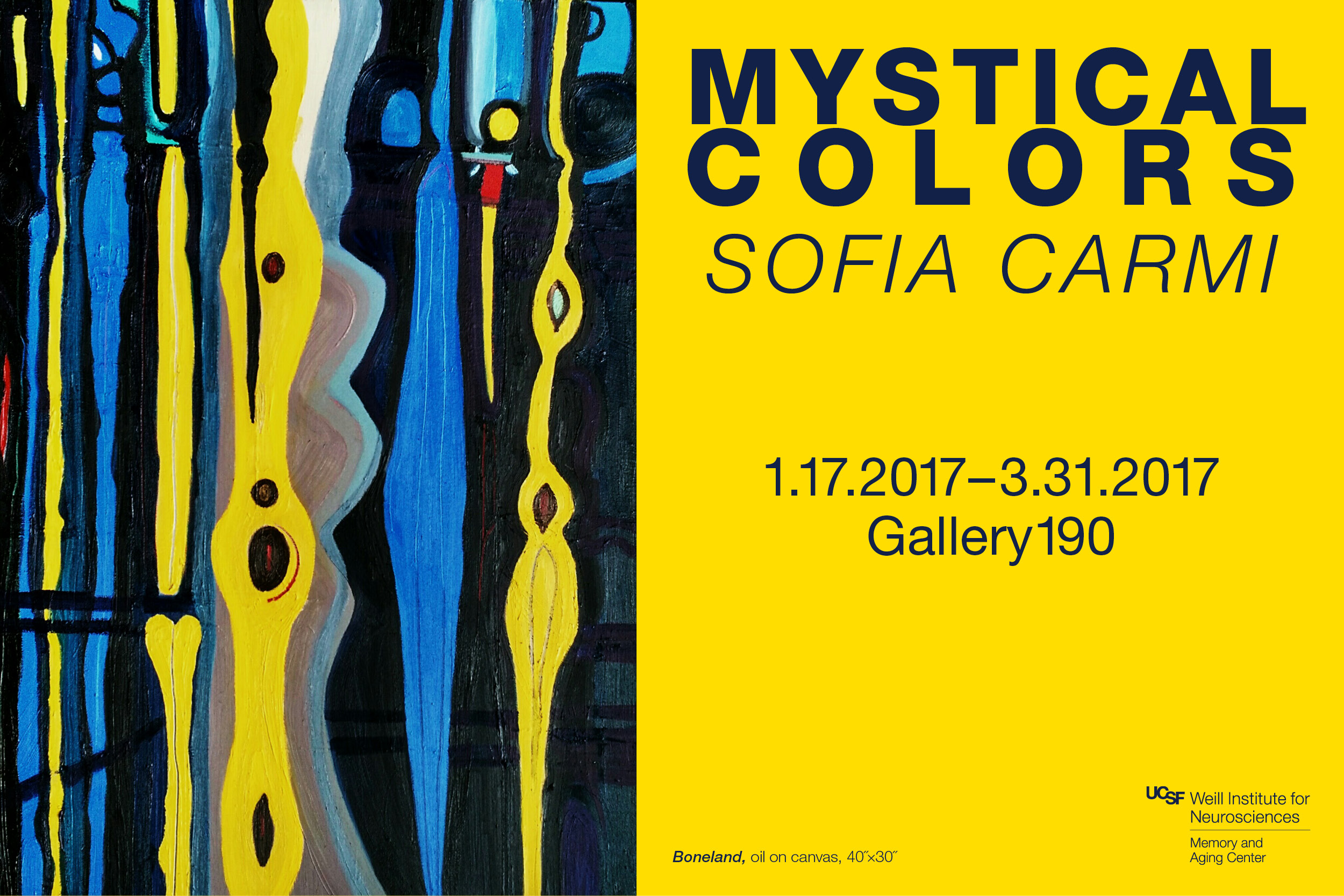 """Mystical Colors"" exhibit by Sofia Carmi"