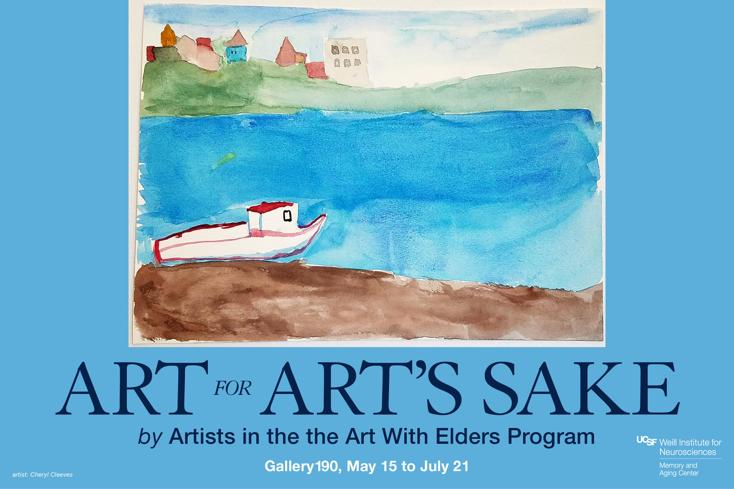"""Art for Art's Sake"" exhibit by Artists in the Art with Elders Program"