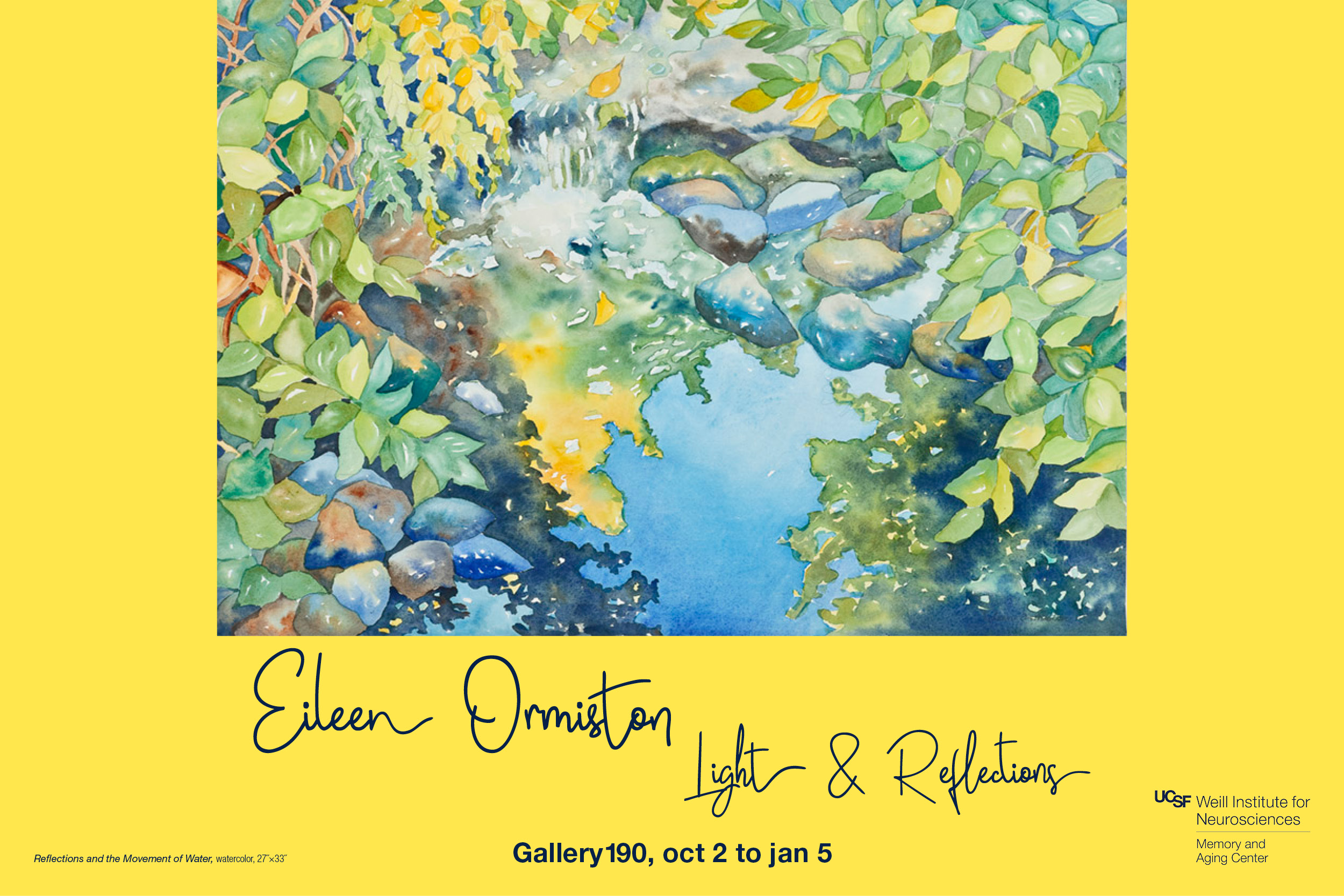 """Light and Reflections"" exhibit by Eileen Ormiston"