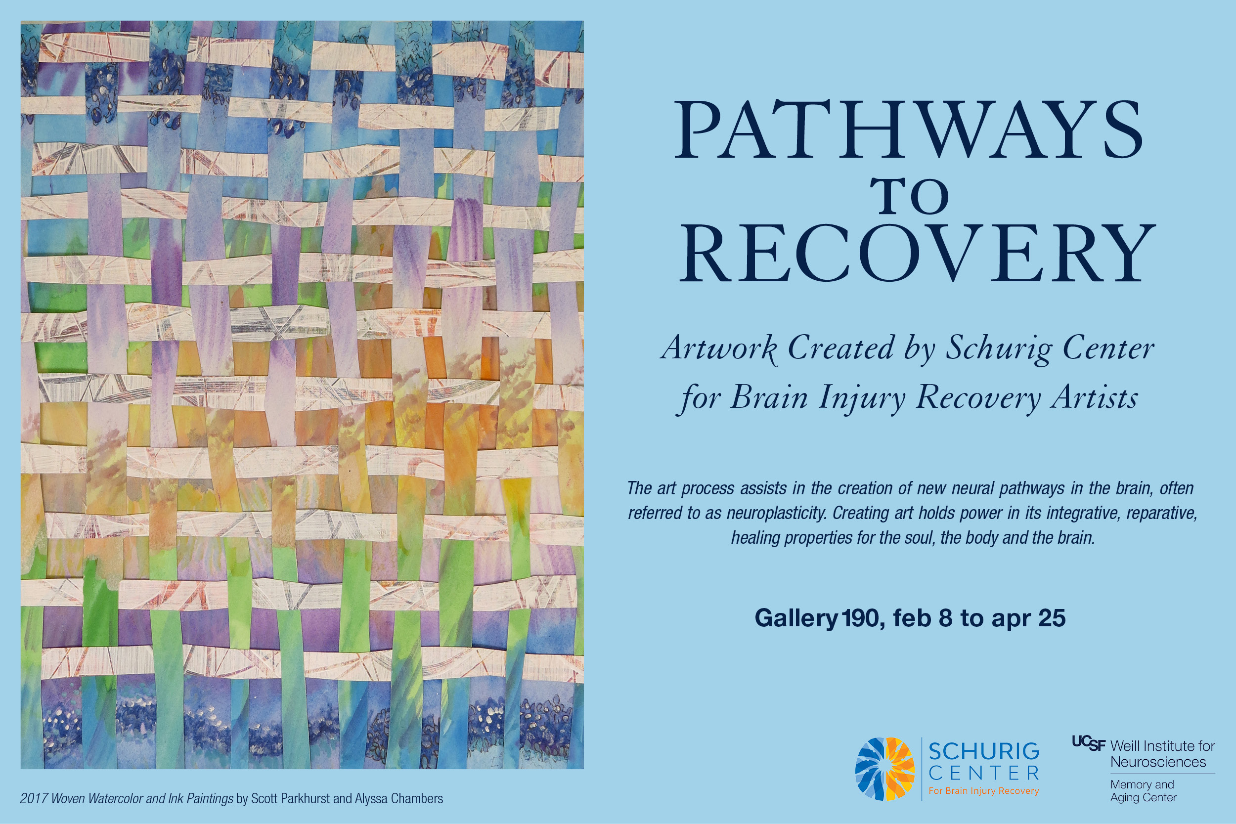 """Pathways to Recovery"" Exhibit by Schurig Center for Brain Injury Recovery Artists"