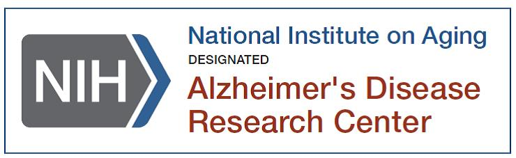 logo for National Institute on Aging Alzheimer's Disease Research Center