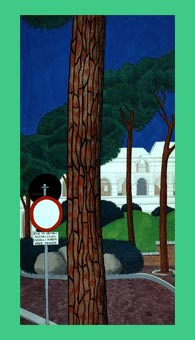 """Roman Pines"" painting by Anne Adams"
