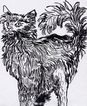 """Longhaired Cat"" by Dane Botino"