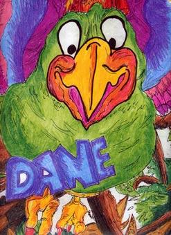 """""""Smiling Parrot"""" by Dane Botino"""